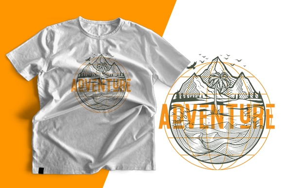 T-shirt Design - Adventure Trips Graphic Print Templates By cithu09