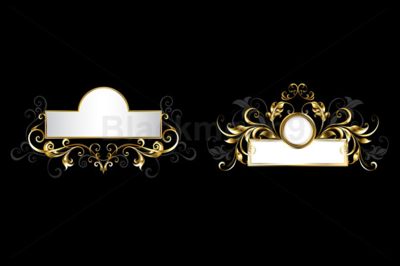 Two Antique Nameplates Graphic Illustrations By Blackmoon9