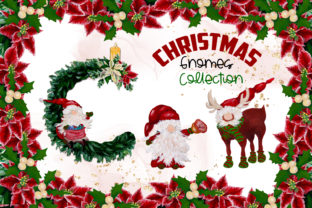 Print on Demand: Watercolor Christmas Gnomes Collection Graphic Illustrations By Andreea Eremia Design