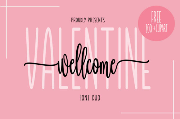 Print on Demand: Wellcome Valentine Script & Handwritten Font By Fillo Graphic