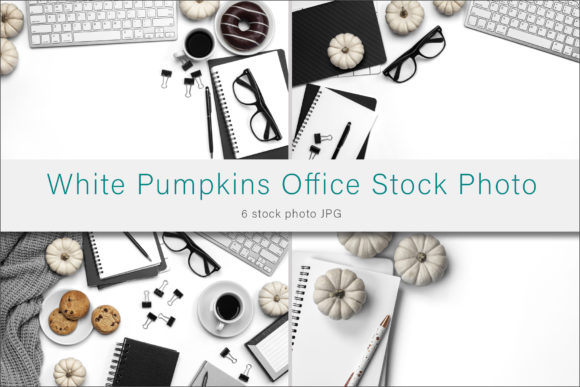 Print on Demand: White Pumpkin Office Styled Stock Photo Graphic Photos By AS Digitale