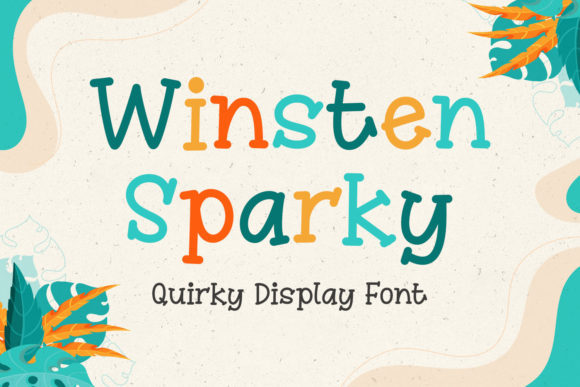 Print on Demand: Winsten Sparky Display Schriftarten von Kotak Kuning Studio