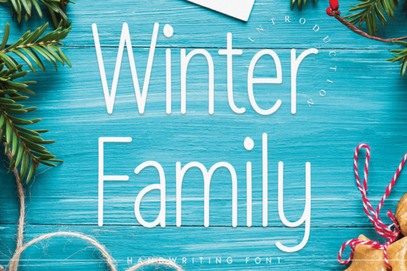 Print on Demand: Winter Family Script & Handwritten Font By andikastudio