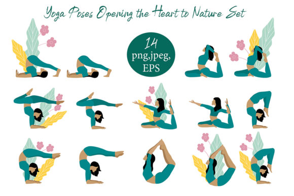 Print on Demand: Yoga Exercise. the Sun and Natur Salutat Graphic Illustrations By ElenaZlataArt