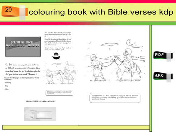 Print on Demand: Colouring Book with Bible Verses Kdp Graphic KDP Interiors By kdp Edition