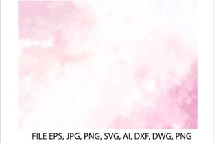 Print on Demand: Watercolor Pink, White Background Svg Graphic Backgrounds By nisakaart