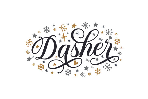 Dasher Christmas Craft Cut File By Creative Fabrica Crafts