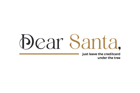 Dear Santa, Just Leave the Creditcard Under the Tree Christmas Craft Cut File By Creative Fabrica Crafts