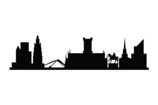 Coventry City Skyline UK Designs Craft Cut File By Creative Fabrica Crafts