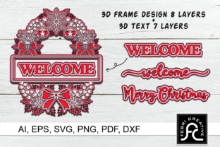Print on Demand: 3D Layered Christmas Frames Graphic 3D SVG By Febri Creative