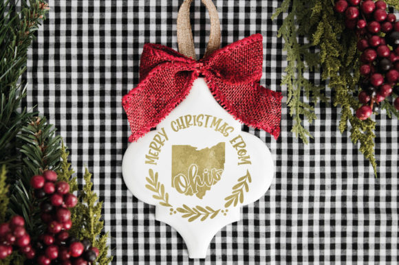 50 States Christmas Ornament Graphic Graphic