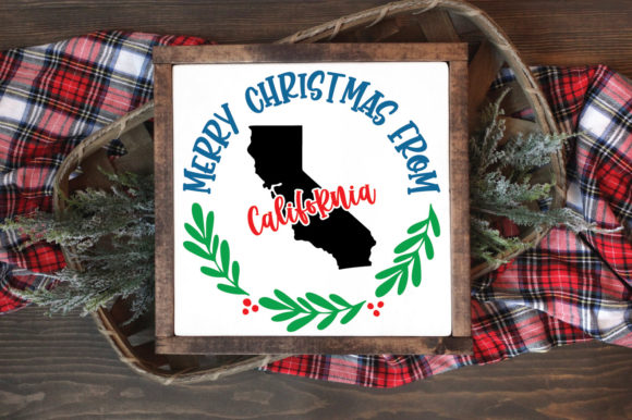 50 States Christmas Ornament Graphic Image