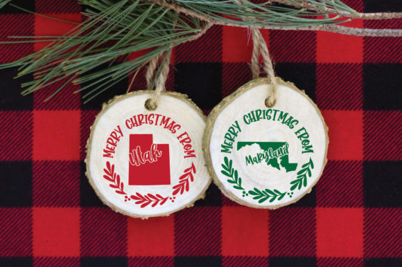 50 States Christmas Ornament Graphic Downloadable Digital File