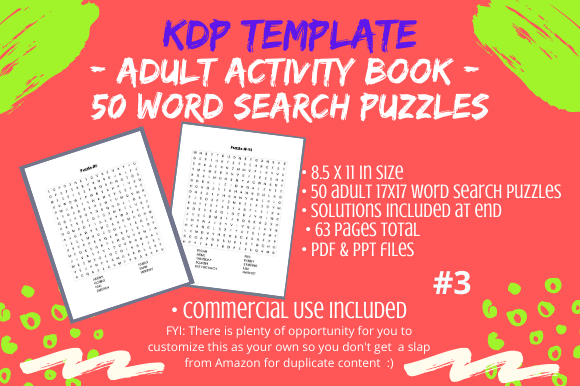 Print on Demand: 50 Thanksgiving Word Search 4 Adults #3 Graphic KDP Interiors By Tomboy Designs