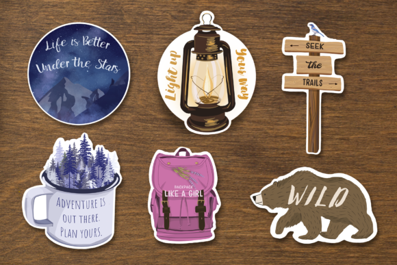 Adventure Motivational Stickers Graphic Illustrations By tatibordiu