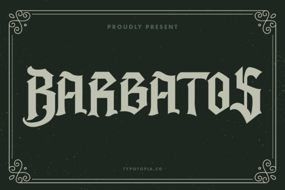 Print on Demand: Barbatos Blackletter Font By typotopia