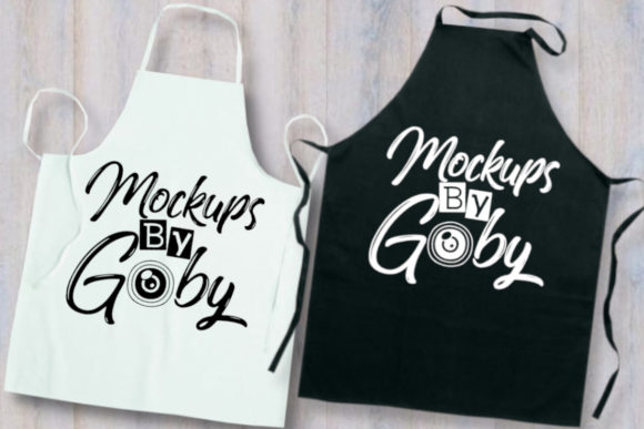 Black and White Apron Mockup, Flat Lays Graphic Product Mockups By MockupsByGaby