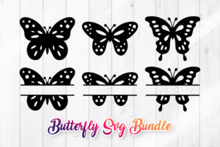 Print on Demand: Butterfly Clipart SVG Set Graphic Crafts By DTCreativeLab