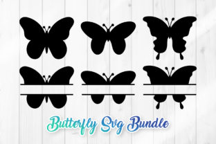 Print on Demand: Butterfly SVG Clipart Set Graphic Crafts By DTCreativeLab