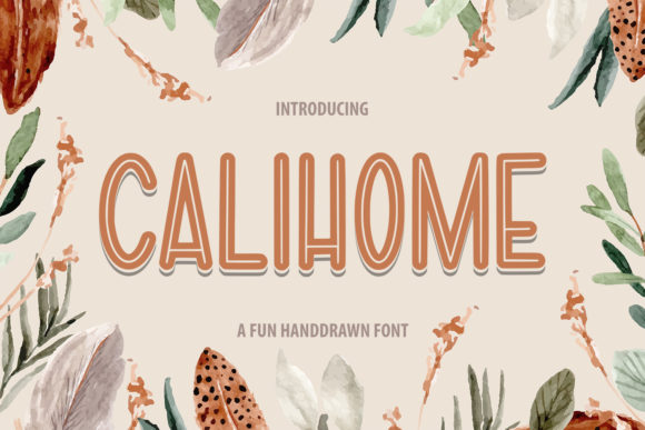 Print on Demand: Calihome Sans Serif Font By Typefar