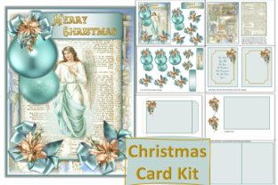 Print on Demand: Christmas Card Making Kit Shabby Chic Graphic Crafts By The Paper Princess