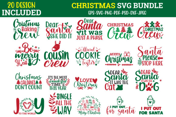 Print on Demand: Christmas Quotes Svg Bundle Graphic Crafts By Design Store Bd.Net