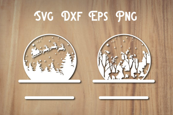 Print on Demand: Christmas Snow Globe SVG File, Christmas Graphic Print Templates By dadan_pm
