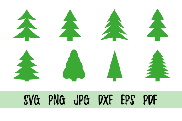 Christmas Tree Graphic Crafts By CuteShopClipArt