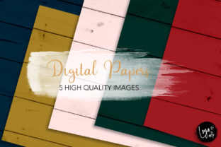 Print on Demand: Christmas Wood Texture Set Graphic 02 Graphic Backgrounds By MutchiDesign