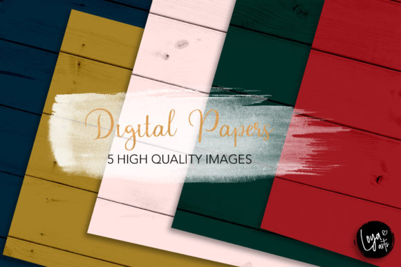 Print on Demand: Christmas Wood Texture Set Graphic 02 Graphic Backgrounds By loyaarts
