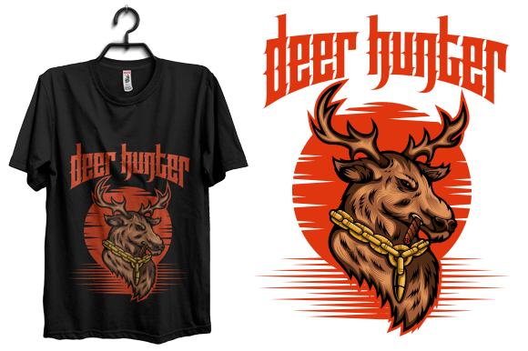 Deer Hunter Tshirt Design Graphic Graphic Print Templates By rubel2026