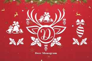 Print on Demand: Deer Monogram Decorative Font By utopiabrand19