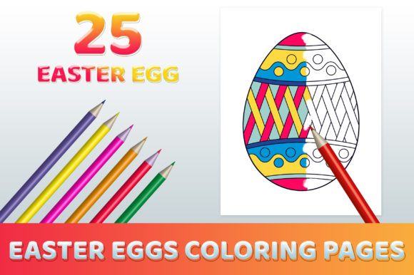 Easter Egg Coloring Full Pages Printable Graphic Coloring Pages & Books Kids By medelwardi