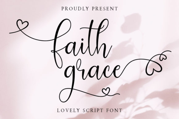 Print on Demand: Faith Grace Script & Handwritten Font By Typesthetic Studio