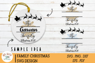 Family Christmas Monogram Frame Graphic Crafts By redearth and gumtrees