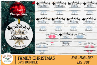 Family Christmas Monogram Frames Bundle Graphic Crafts By redearth and gumtrees