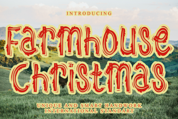 Print on Demand: Farmhouse Christmas Display Font By giatstudios