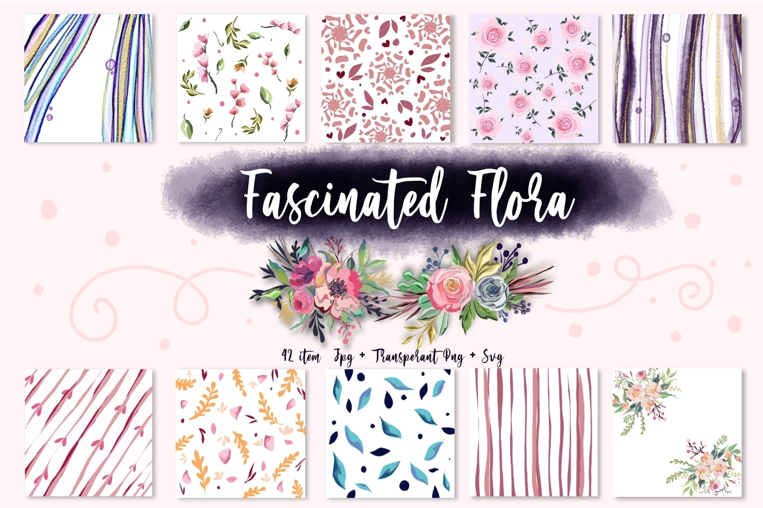 Fascinated Flora Collection SVG File