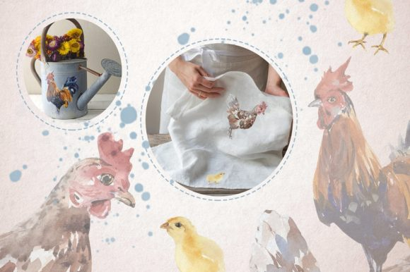 Feathered Friends Watercolor Clip Art Graphic Download
