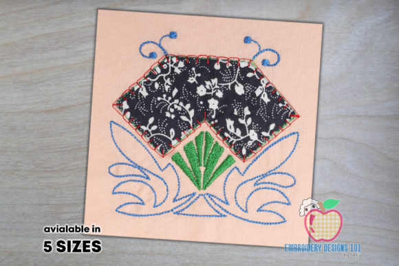 Floral Frame Applique Borders Embroidery Design By embroiderydesigns101
