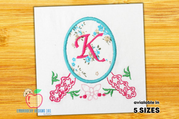 Floral Frame with Place for Text Borders Embroidery Design By embroiderydesigns101