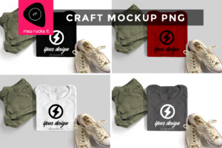 Folded Tee with Shorts & Sneakers Mockup Graphic Product Mockups By RisaRocksIt