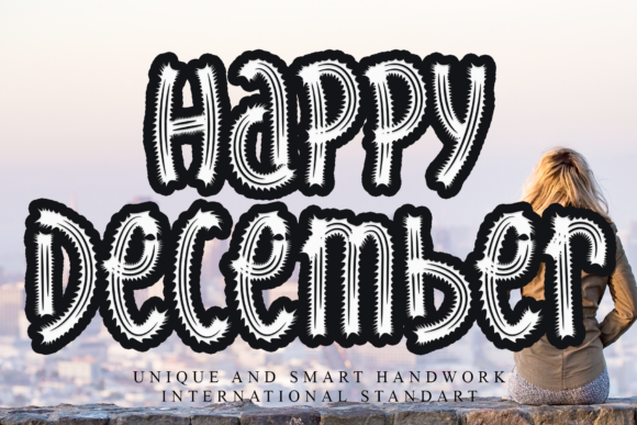 Print on Demand: Happy December Display Font By giatstudios