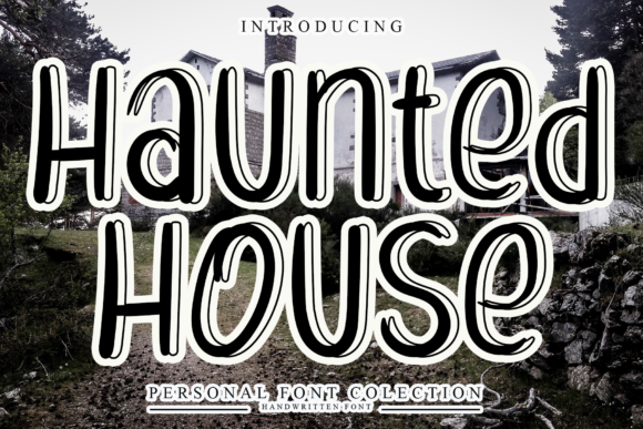 Print on Demand: Haunted House Display Font By giatstudios