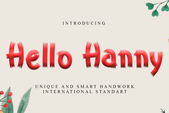 Print on Demand: Hello Hanny Display Font By giatstudios