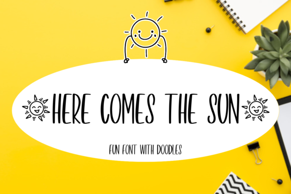 Print on Demand: Here Comes the Sun Display Font By mfikryalif