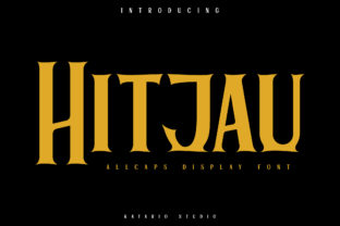 Print on Demand: Hitjau Display Font By Katario Studio