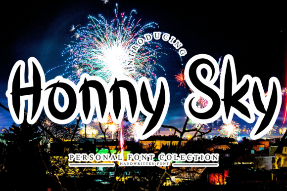 Print on Demand: Honny Sky Display Font By giatstudios