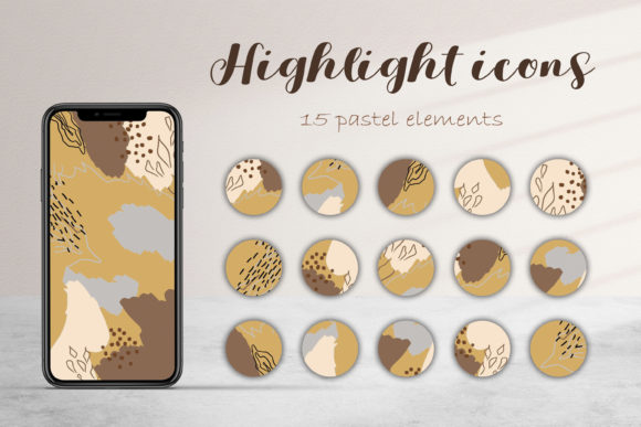 Instagram Highlight Abstract 15 Icon. Graphic Icons By ksenia.shuneiko