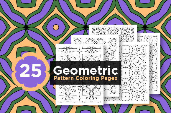 Print on Demand: KDP Bundle of Geometric Pattern Pages Graphic Coloring Pages & Books Adults By Riduwan Molla